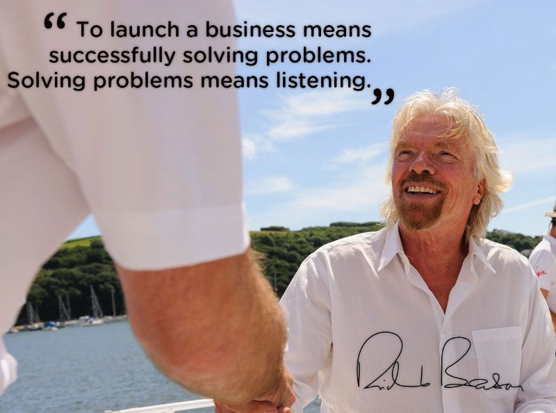 Richard Branson on successfully solving problems